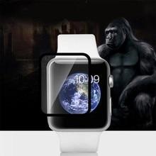 Volle Kante Gehärtetem Glas Screen Protector Film Für Apple Uhr 38mm 42mm Schwarz Für iWatch Smart watch Smartwatch Smart wacht
