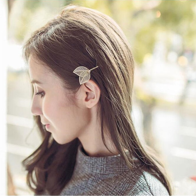 T69 The New Fashion Leaves Hair Clips Korean Style 2 Colors To