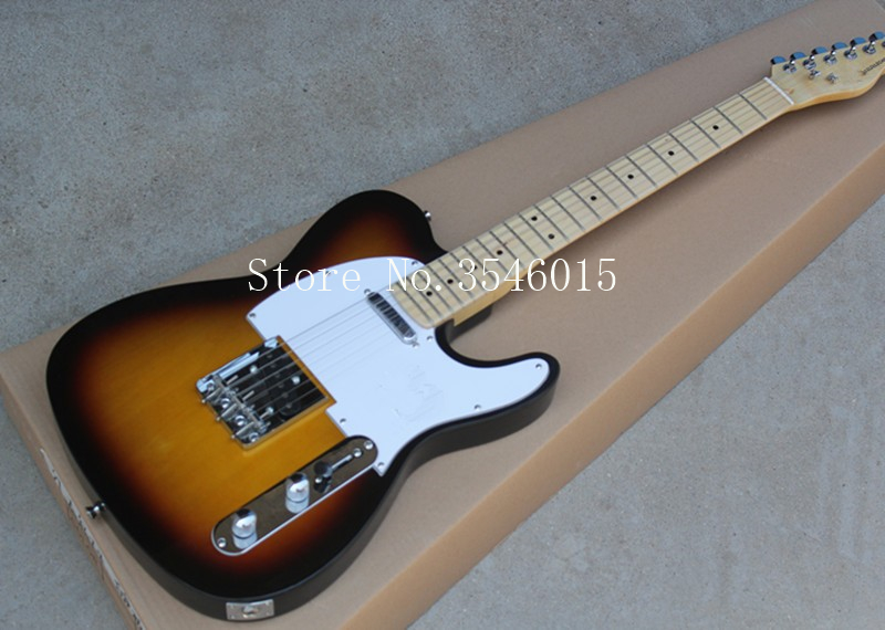 US $162 0 |Factory Wholesale Sunset Color Electric Guitar with 1  Pickup,White Pickguard,Maple Fretrboard,Offer Customized-in Guitar from  Sports &