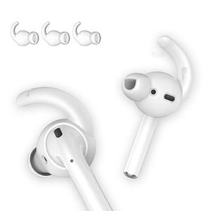 Image 2 - 3 Pairs Silicone Hook Shaped Headset Stabilizer In ear Anti slip Ear Hooks Covers Accessories For AirPods EarPods Wired Headsets