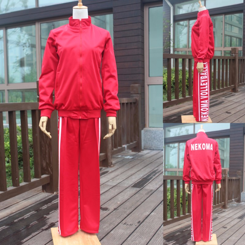 Haikyuu!! 2018 Nekoma High School jersey Kuroo Tetsurou cosplay Unisex Jacket Long Pants Sportswear Uniform halloween costumes