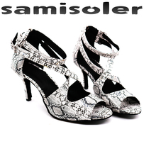 Samisoler Hot selling Women Professional Dancing Shoes Ballroom Dance Ladies Latin heeled 5CM-10CM