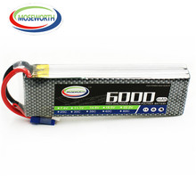 New Battery 11.1V 3S 6000mAh 25C RC LiPo Battery 3S for RC Airplane Drone Car Helicopter RC Rechargeable Battery LiPo 11.1V AKKU