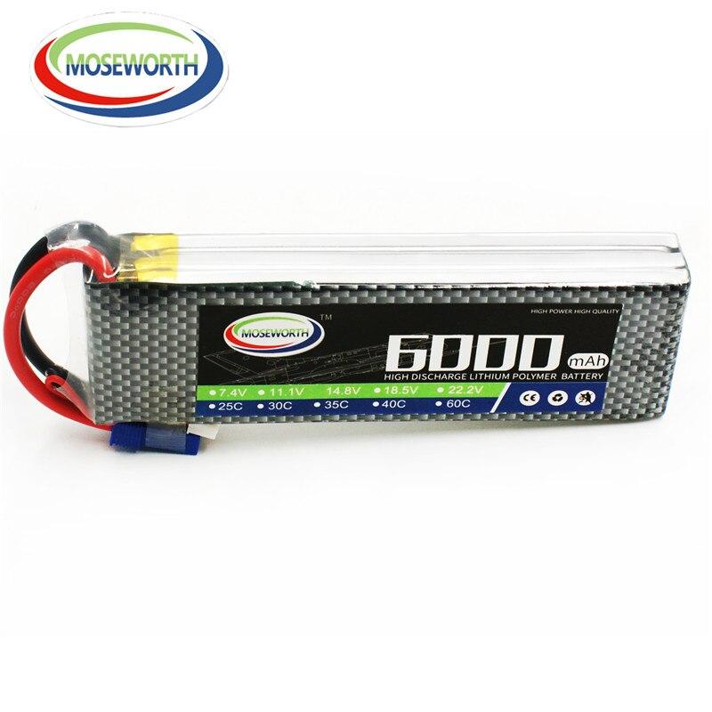 Nouvelle batterie 11.1 V 3 S 6000 mAh 25C RC LiPo batterie 3 S pour RC avion Drone voiture hélicoptère RC batterie Rechargeable LiPo 11.1 V AKKU
