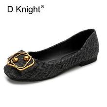 Купить с кэшбэком Women's Flats 2019 Women Shoes Black Grey Woman Loafers Spring Autumn Flat Shoes Women Zapatos Mujer Summer Shoes Big Size 36-42