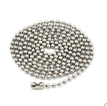 Fidelia 2.4mm rhodium 70cm Chains Ball Bead Chain Ball Chains Necklaces Keychains,wholesale chains for jewelry supplies