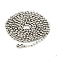 Fidelia 2.4mm rhodium 70cm Chains Ball Bead Chain Ball Chains Necklaces Keychains,wholesale chains for jewelry supplies(China)