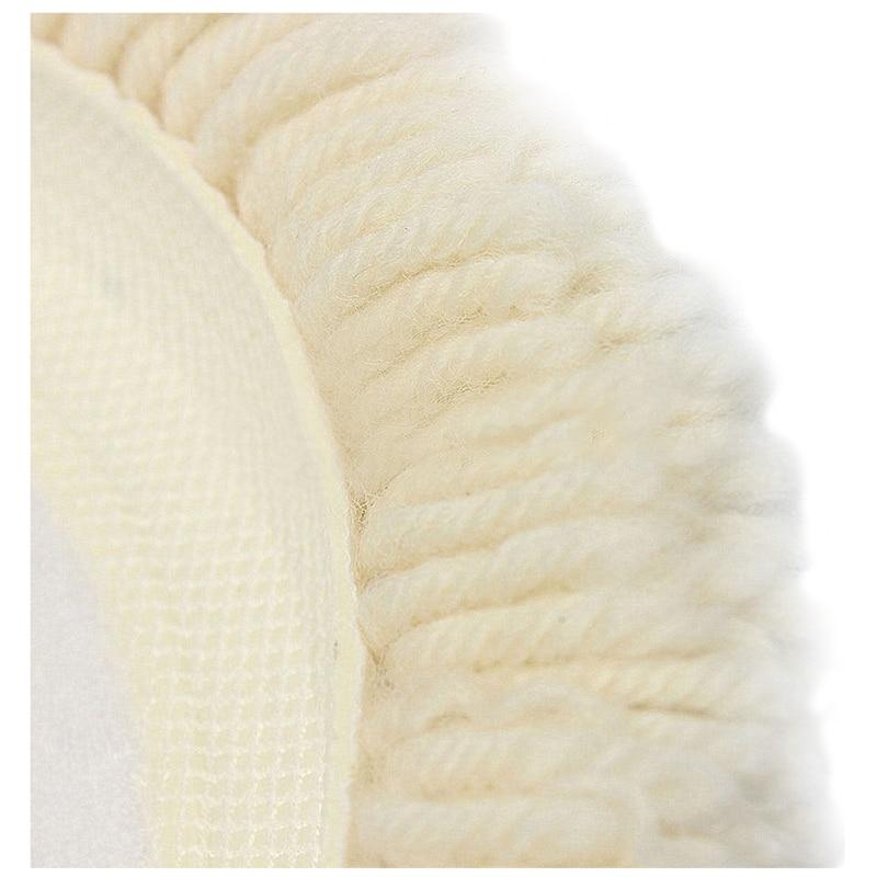 "7/"" 180mm Soft Wool Clean Polishing Buffing Bonnet Pad for Car Auto"
