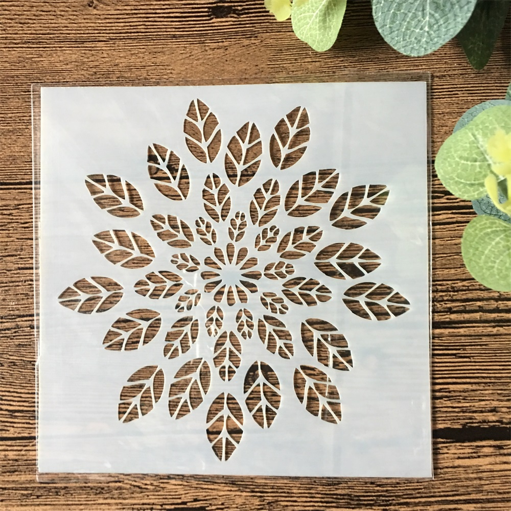 13cm Leaves DIY Layering Stencils Wall Painting Scrapbook Coloring Embossing Album Decorative Template