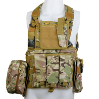 CQC RRV Airsoft Tactical Molle Vest Military Combat Assault Chest Rig Police Paintball Hunting Vest Multicam