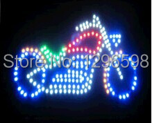 2017 direct selling Graphics custom led sign 19X19 Inch indoor Ultra Bright business Motorcycle store signboard
