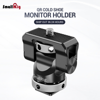 SmallRig Quick Release Camera Monitor Holder EVF Mount Rig Swivel 360 Degree & Tilt 140 Degree Monitor Clamp with Cold Shoe 2346
