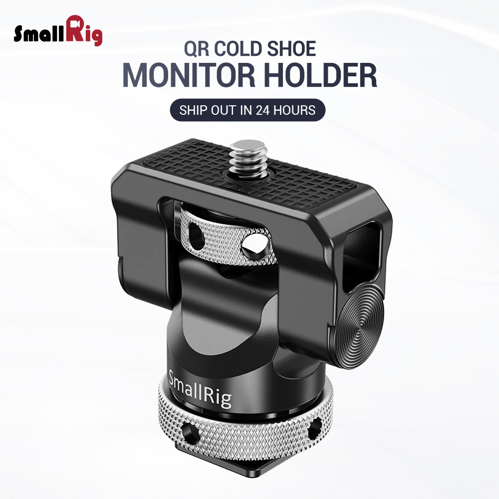 SmallRig Quick Release Camera Monitor Holder EVF Mount Rig Swivel <font><b>360</b></font> Degree & Tilt 140 Degree Monitor Clamp with Cold <font><b>Shoe</b></font> 2346 image