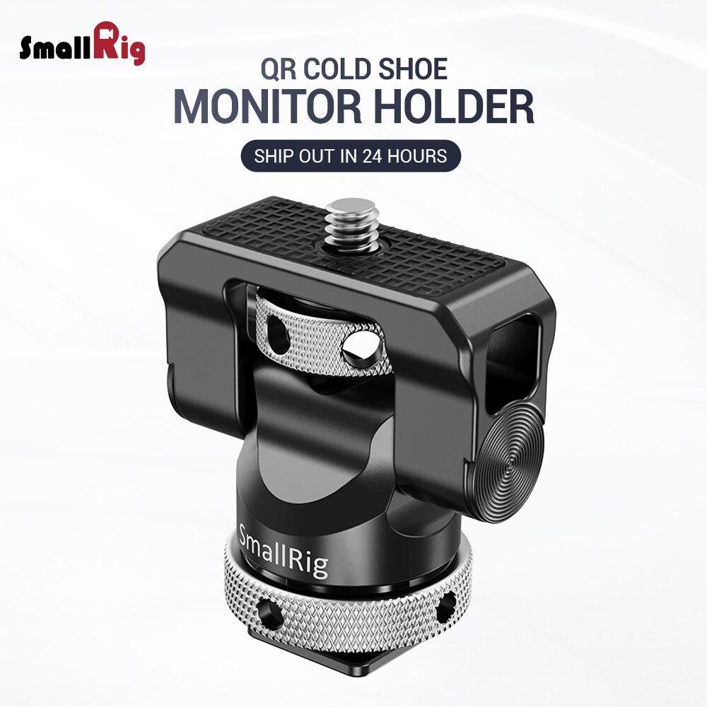 Support de moniteur de caméra à libération rapide SmallRig support de montage EVF pivotant à 360 degrés et inclinaison pince de moniteur à 140 degrés avec chaussure froide 2346