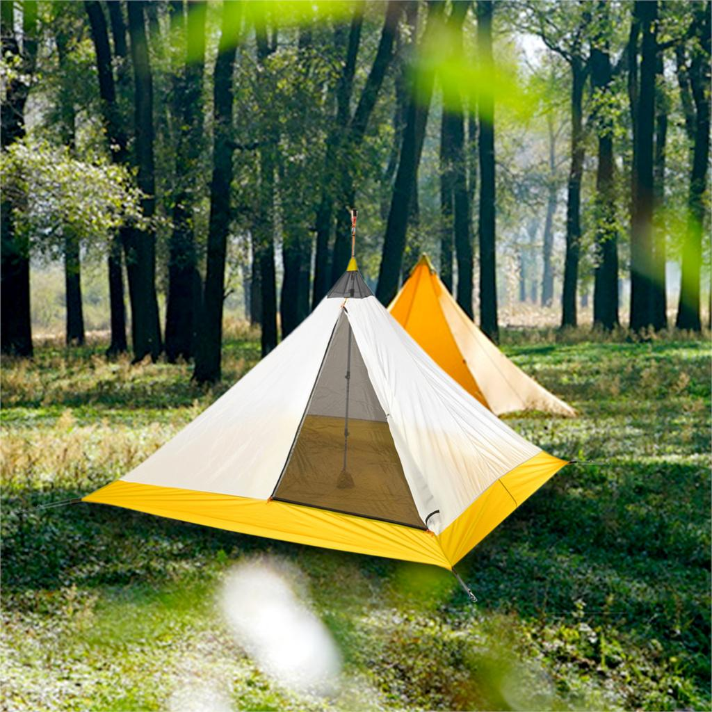 995g Ultralight Outdoor Camping Rodless Pyramid Tent 3-4 Person 4 Seasons Large Tent 40D Nylon Silicon Coating Hiking Inner Tent995g Ultralight Outdoor Camping Rodless Pyramid Tent 3-4 Person 4 Seasons Large Tent 40D Nylon Silicon Coating Hiking Inner Tent