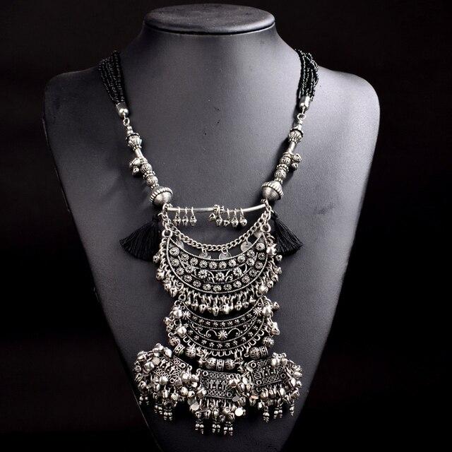 Nuevo estilo za collar 2015 nueva gran marca de joyería fina de múltiples capas cuentas de collar de cadena chunky vintage collar y colgante FH215