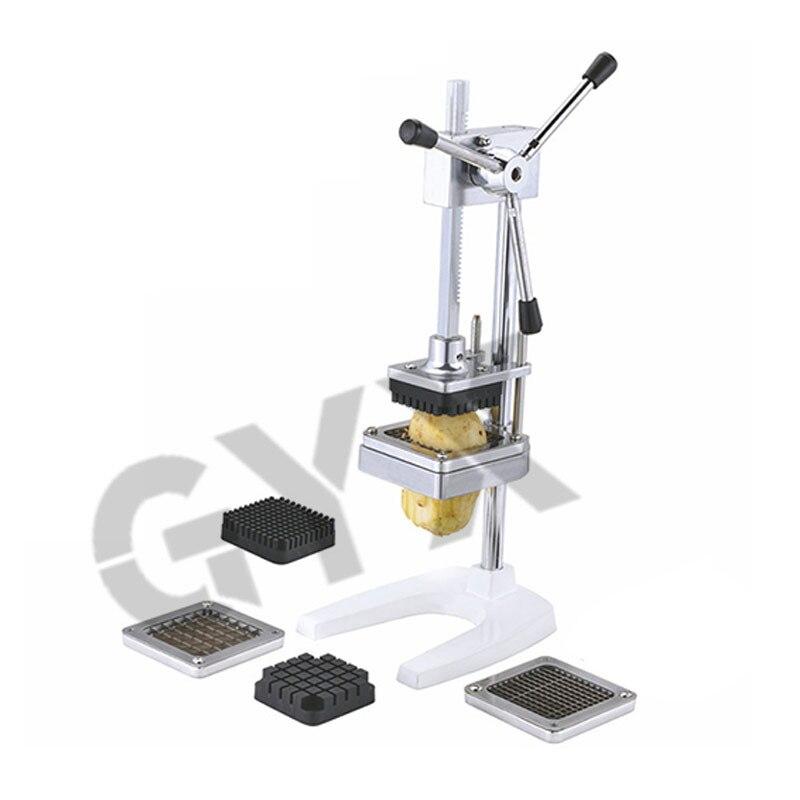 Коммерческая машина для резки фри из нержавеющей стали, бытовая вертикальная машина фри, ручное приспособление для фри