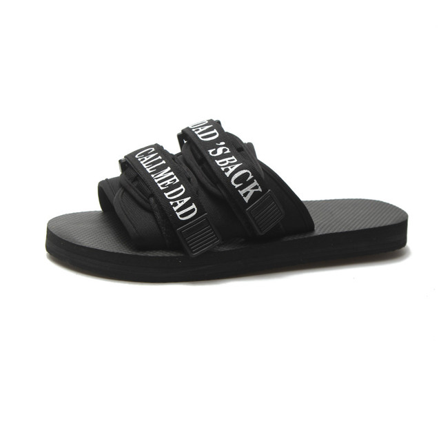 7069f1ae570 Slippers Men 2018 New Fashion Non-slip Trend Word Sandals Korean Style Of  The Couple Wearing Outdoor Vietnamese Beach Shoes