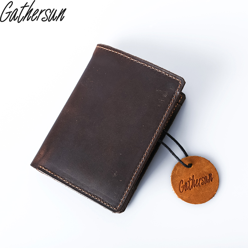 2017 Real Gathersun Brand Classical European And American Style Wallets Genuine Leather Wallet Handmade Purse Card Holder gathersun brand handmade 2017 original design genuine leather men wallet vintage style large capacity long purse clutch wallet