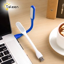 TSLEEN Mini USB LED Lamp Portable Keyboard USB Light for Macbook Ultrabook Notebook Laptop,Power Bank Adapter Wall Car Charger(China)