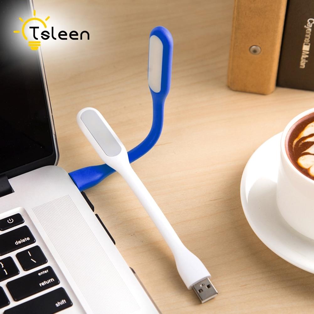 TSLEEN Mini USB LED Lamp Portable Keyboard USB Light For Macbook Ultrabook Notebook Laptop,Power Bank Adapter Wall Car Charger