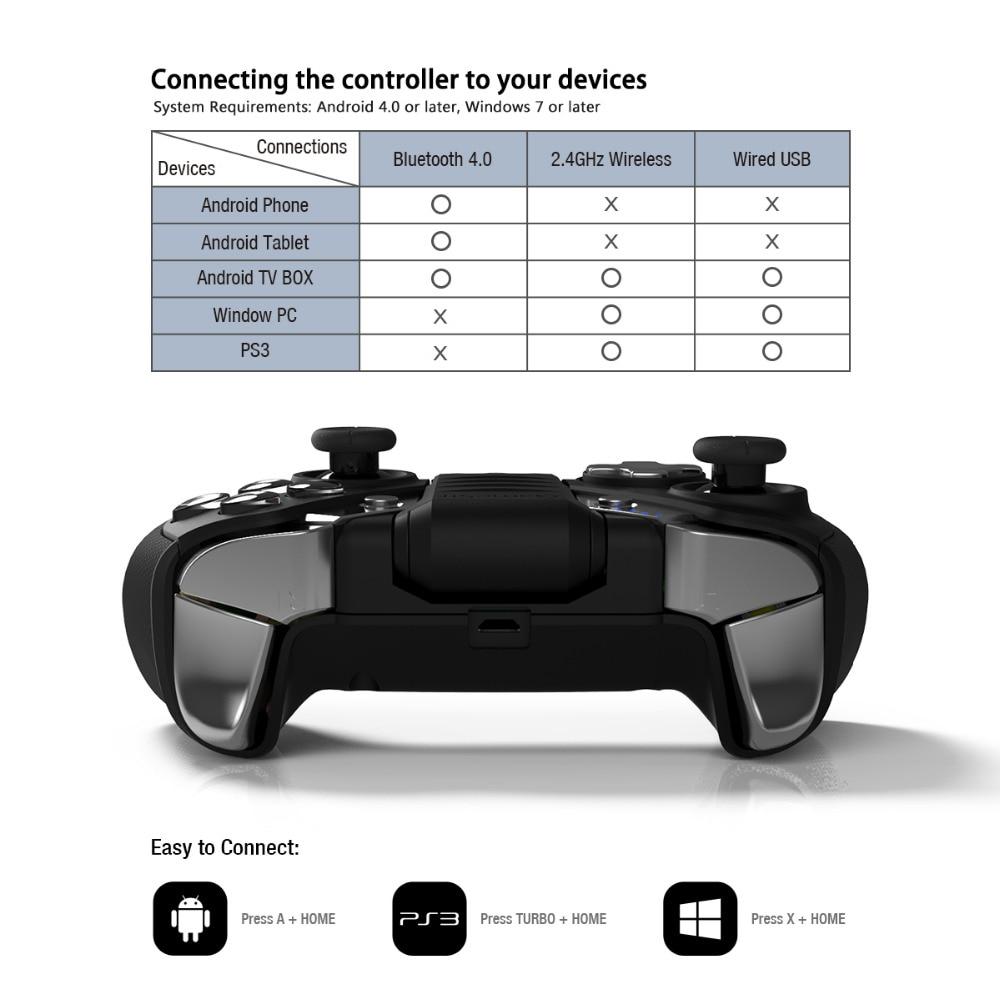 GameSir G4s Android manette pour Smartphone Bluetooth 4.0 pour PS3 Android TV BOX 2.4 GHz contrôleur sans fil pour PC VR jeux - 6