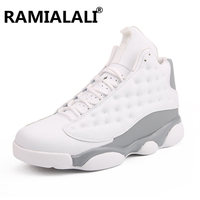 Ramialali High top Basketball Shoes Men's Cushioning Light Basketball Sneakers Anti skid Breathable Outdoor Sports Shoes