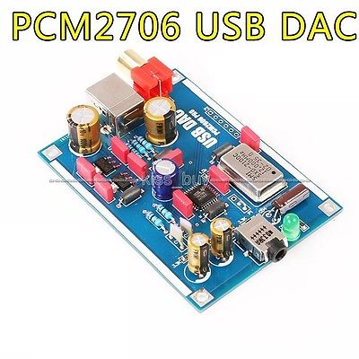 Pcm2706 Dac Usb Sound Card I2 3 5mm Coaxial Headphone Output Dac Amp Support Otg Decoder Diy Amp kopen