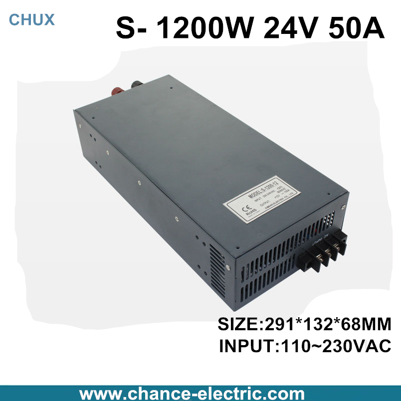 switching power supply 24V 50A 1200W 110~220VAC  single output input  for cnc cctv led light(S-1200W-24V) switching power supply 15v 66a 1000w 110 220vac single output input for cnc cctv led light s 1000w 15v