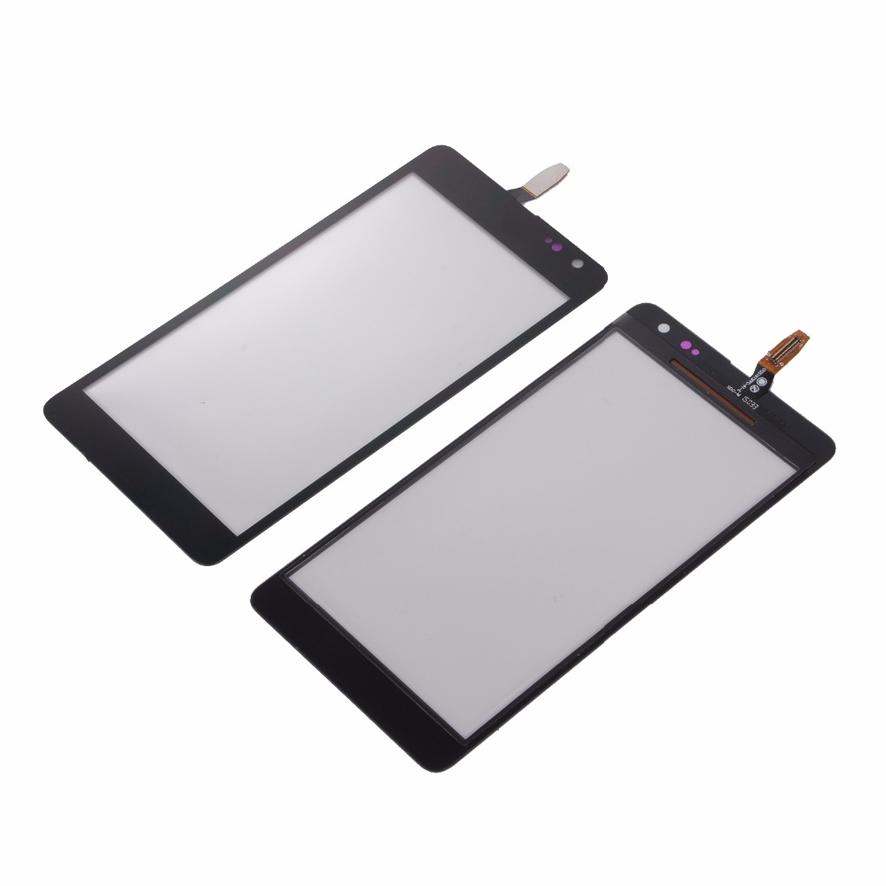 New Touch screen For Microsoft Nokia Lumia N535 535 2C 2S Housing Black Digitizer Panel Glass