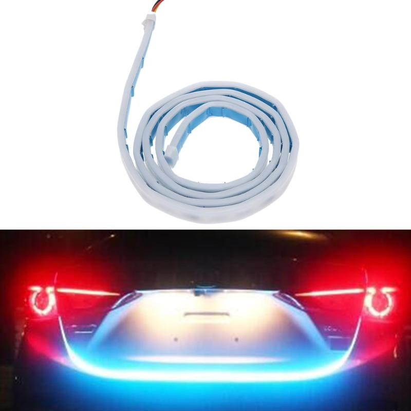 VODOOL Car Style RGB LED Lighting Trunk Rear Tail Lights Vehicle Rear Back Turn Signal Lamp Tail Warning Stop Atmosphere Light