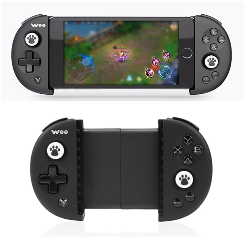 Flydigi Wee Bluetooth Wireless Gamepad Non-vibration Stretchable Handle Game Pad Joystick Controller For Smartphone Android IOS flydigi x9et pro non vibration mobile game handle controller