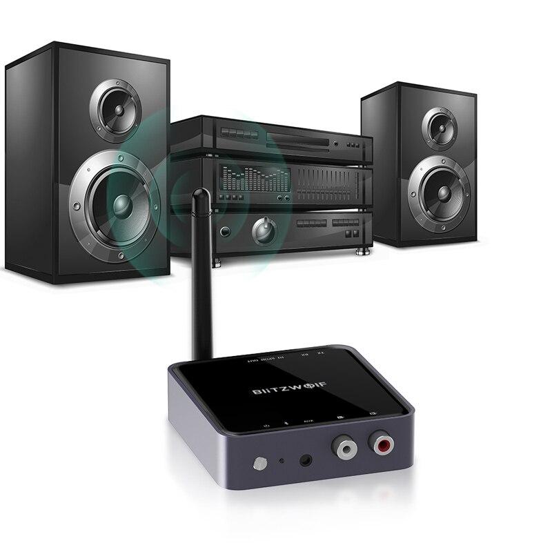 BlitzWolf BW-BR4 V5.0 bluetooth sans fil 2 dans 1 Émetteur-Récepteur aptX HD Musique adaptateur audio 3.5mm Aux pour Haut-Parleur TV MP3 - 4