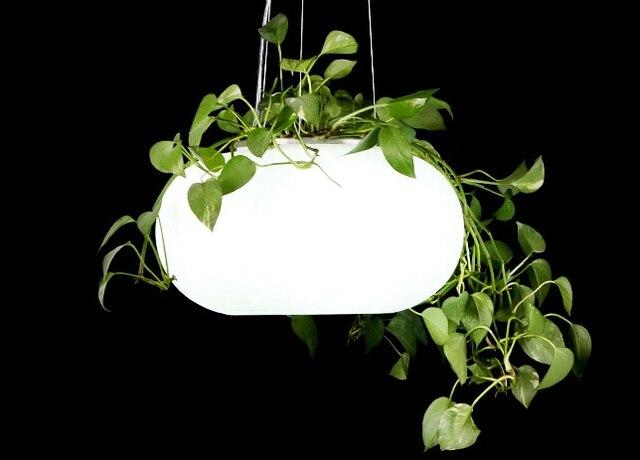 Lampade a sospensione luci da giardino con piante luci verdi per
