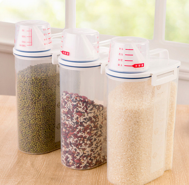 aliexpress : buy e show 1pcs zakka plastic food grain storage