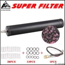 Воздушный фильтр высокого давления Pcp, сепаратор масляной воды для компрессора pcp высокого давления 4500psi 30Mpa 300bar воздушный Электронный насос Pcp