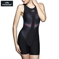 PHINIKISS Racing Swimsuit Female Striped one piece Suit Diving Professional Sport Competition Swimwear 2018 Triathlon Large Size