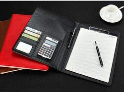 A4 PU leather biznes konferencji jest twój plik bill folder menedżera portfela podpis umowy teczka na dokumenty organizer do dokumentów W037 w Przechowywania w domu i biurze od Dom i ogród na
