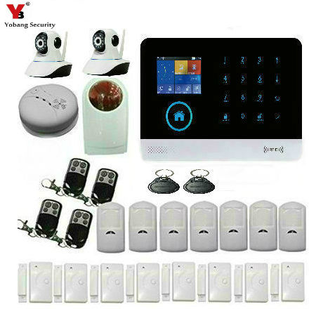YobangSecurity WIFI Gsm Wireless Home Office Security Burglar Alarm System Auto Dial Strobe Flashing Siren Wireless IP Camera yobang security gsm wifi auto dial home alarm system rfid tags intelligent alarma kits glass break sensor strobe siren sensor