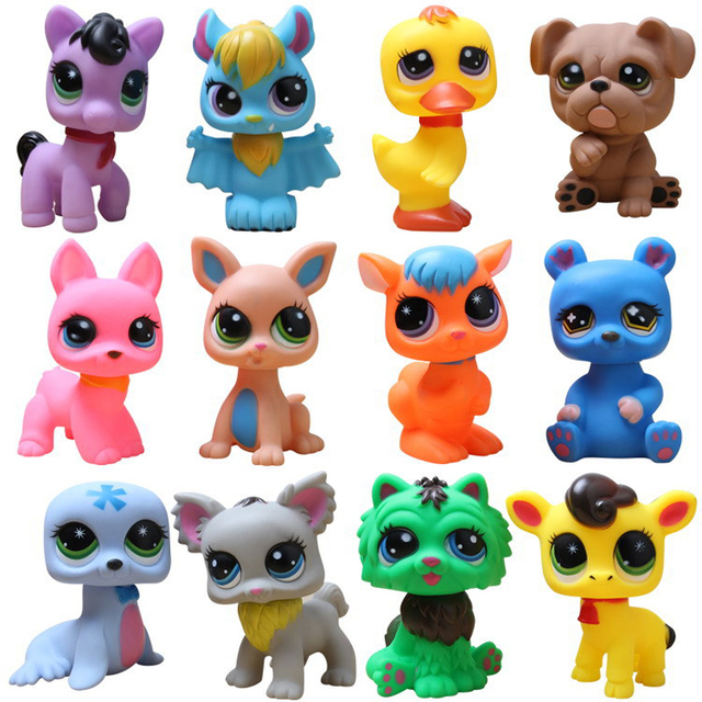 Hot 5pcslot 8 14cm Littlest Pet Shop Lps Toys Animal Cartoon Cat