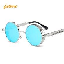 Round Metal Sunglasses Steampunk Men Women Fashion Glasses Brand Designer Retro Vintage Sunglasses UV400 oculos de sol