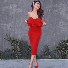 Lyer 2019 New High quality sexy 1cm strapless rayon bandage dress party
