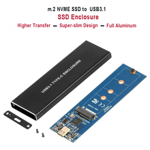 Carcasa NVMe PCIE USB3.1 HDD, M.2 a USB 3,1 tipo C M, carcasa de llave SSD, caja de unidad del disco duro, Funda de disco duro externa/caja PCIE SSD