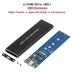 NVMe PCIE USB3.1 HDD корпус M.2 к USB 3,1 Тип C M ключ SSD корпус для жесткого диска внешний HDD чехол/PCIE SSD коробка