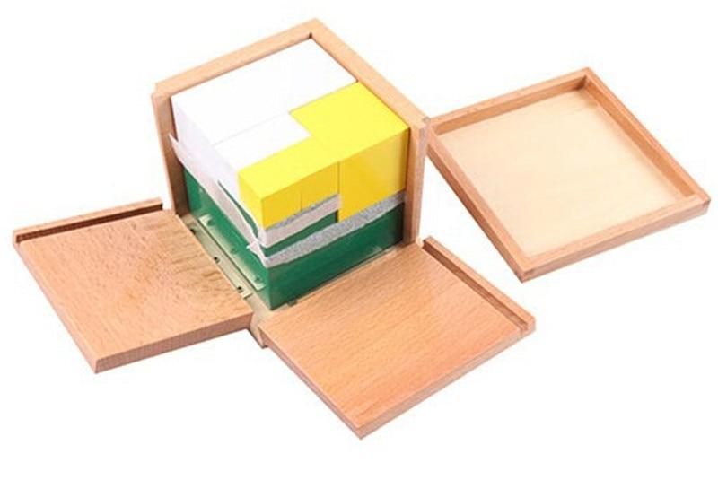 Juguete de madera para bebé Juguete Montessori Power of 2 Cube Math - Educación y entrenamiento - foto 2