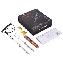 Electric Soldering Iron Set TS100 Mini with Two Soldering Iron Tips B2+ D24/K+I/UK+C4/BC2+D24 with Hexagon Screwdriver Tool