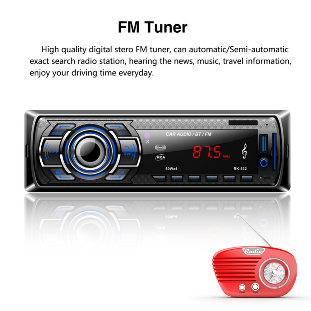 RK522 Bluetooth Auto Mp3 player Autoradio Car Multimedia Player mit ...