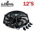"""LZONE-Universal de 12 Pulgadas 12 V 80 W Delgado Reversible Eléctrico AUTO Del VENTILADOR DEL Radiador de Vaivén Con kit de montaje tipo S 12 """"JR-FAN12"""