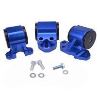 EG Blue Billet Aluminum Motor Swap Engine Mount Kit For Civic EH DC D15 D16 B16 B18
