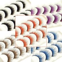 Косметика icycheer, набор цветных ресниц, накладные ресницы для наращивания, красные, фиолетовые, синие, коричневые, Необычные ресницы, вечерние, косплей, Хэллоуин